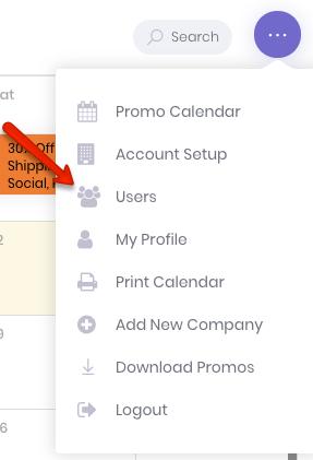 Adding Users Menu Button